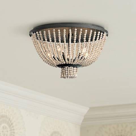 Kichler Brisbane 18 W Distressed Black 5 Light Ceiling Light 16v12 Lamps Plus Ceiling Lights Bronze Ceiling Lights Wooden Bead Chandelier