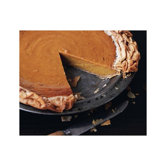 Spiced Pumpkin Phyllo Pie ❤ liked on Polyvore featuring food en pie