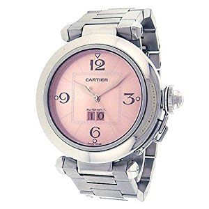 <3 <3 <3 Cartier PASHA automatic-self-wind pink womens Watch W31058M7 <3 <3 <3