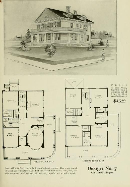 Pin By Grace Purvis On Montgomery Ward Radford Ideal House Plans 1903 House Blueprints House Plans Farmhouse Floor Plans
