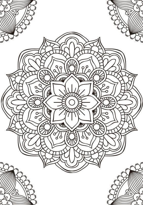 Mandalas Tumblr Para Colorear Mandala Art Lesson Mandala Coloring Pages Mandala Drawing