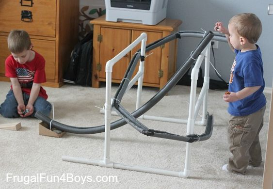 Build A Marble Run With Pipe Insulation Cable Boys And