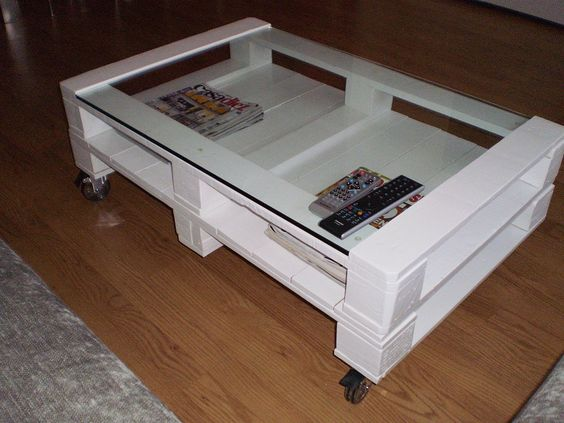 pallet coffee table - Like the Glass
