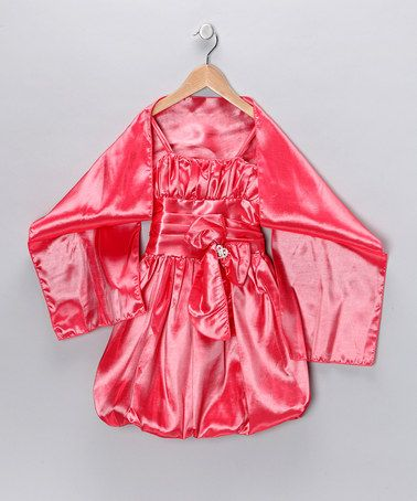 $23.99 Another great find on #zulily! Coral Bubble Dress & Shawl - Toddler & Girls #zulilyfinds
