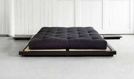 Japanisches futonbett  Dock Sengeramme wenge 180x200 / 2 x Tatami måtter 90x200 / 2 x ...