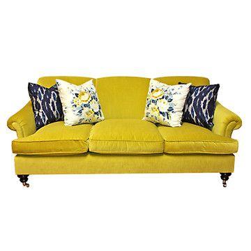 Joplin Velvet Sofa Citrus Yellow...take a little piece of your heart now baby.
