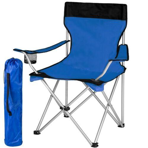 Details Sur Chaise De Camping Avec Housse Fauteuil De Camping Pliable Siege De Plage Bleu Chaise De Camping Tabouret De Camping Chaise
