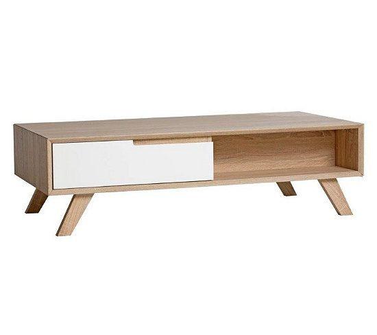 Table Basse Scandinave Gaby Sonoma Et Blanc Table Basse Table Basse Scandinave Table