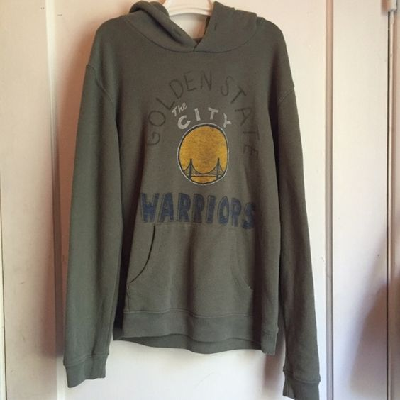 Warriors Sweatshirt Olive green Golden State Warriors sweatshirt. Only worn a few times, it's very cozy and in perfect condition! CHRISTMAS SALE!! I'll be accepting most offers up until New Years! I'll also be donating at the end of the year so get what you want while you still can!!  Junk Food Sweaters