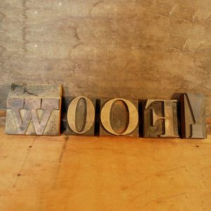Wood Type Woof!, $88, now featured on Fab.