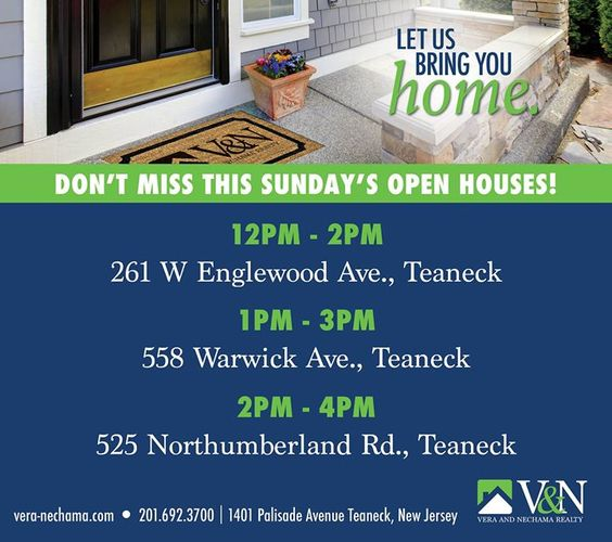 Hope to see you at all of our open houses this Sunday!   http://ift.tt/1rxHdOn  #veranechamarealty #teaneck #bergenfield #newmilford #realestate  #njrealestate #realtor #homesforsale - http://ift.tt/1QGcNEj