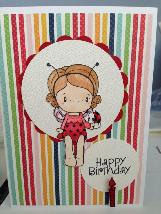 Ladybug Card 1st Birthday