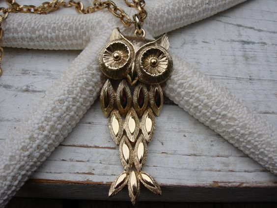 Owl Vntage Necklace Vintage Avon Necklace by jeweledfaith on Etsy, $30.00