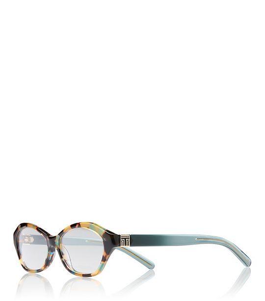 Geometric T-Print Eyeglasses  - 1329 BLUE TORTOISE