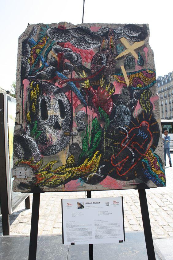 Paris Gare de l'Est - Avril 2015 - Exposition Mur de Berlin GILBERT MAZOUT