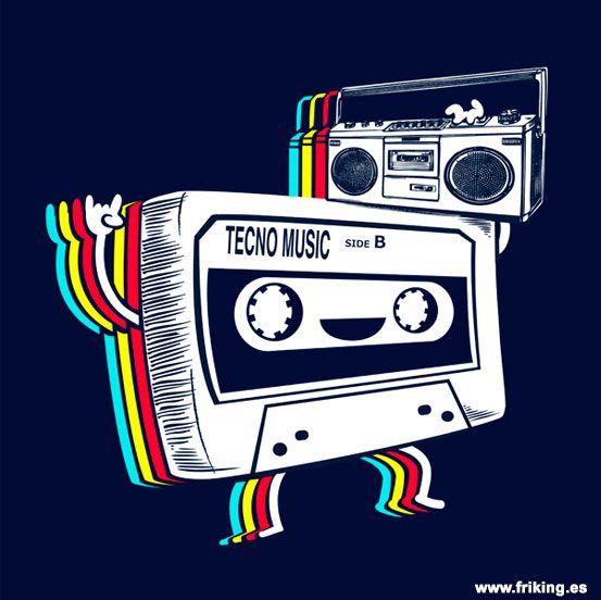 cinta bailando techno como en los mejores años de la música