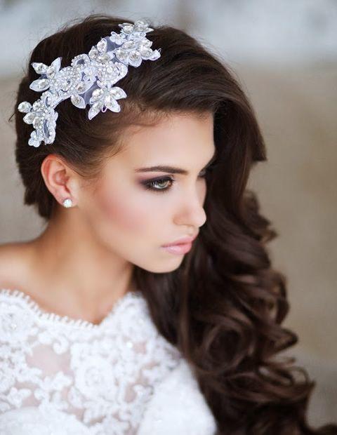 peinados elegantes semirecogidos cabello largo