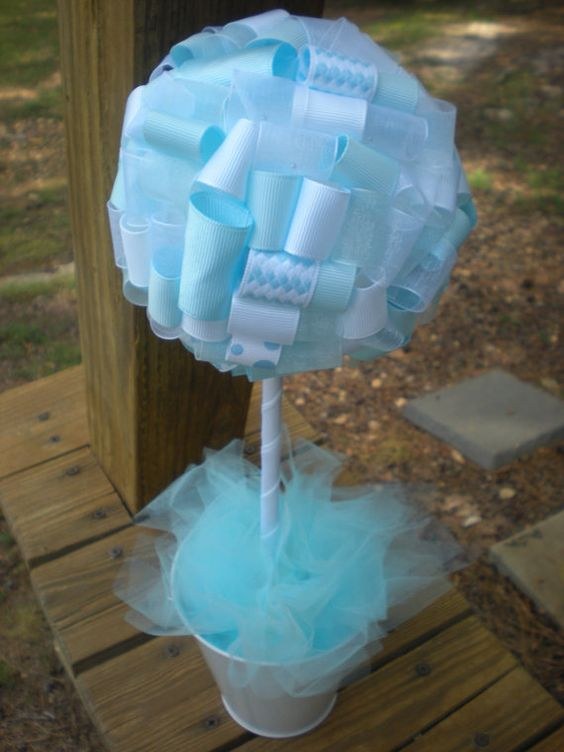 Shower Centerpieces Baptisms And Centerpieces On Pinterest