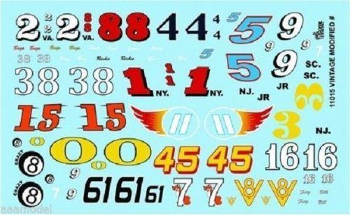 Racing Numbers decals water slide 1:64 scale decal sheet 1//64 #27 Hot Wheels