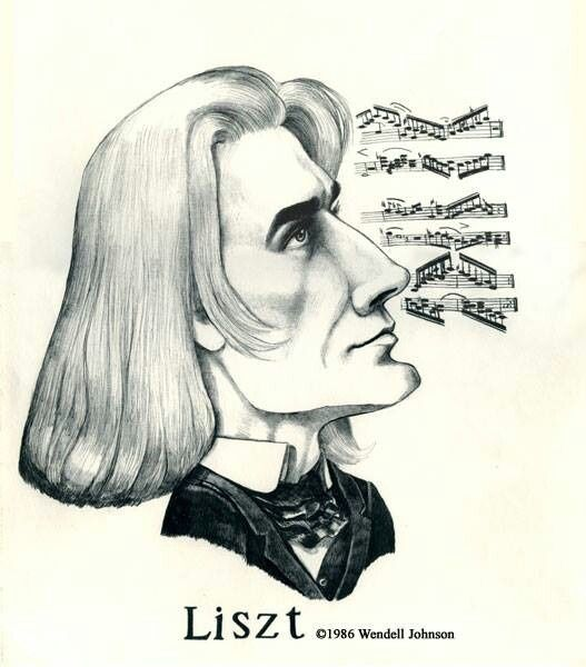 Image Result For Classical Composer Drawings Liszt Caricature Romantic Composers