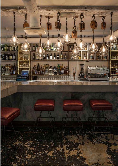 Tempest Suspended Kitchen Shelf Bar Design Restaurant Bar Interior Bar Design