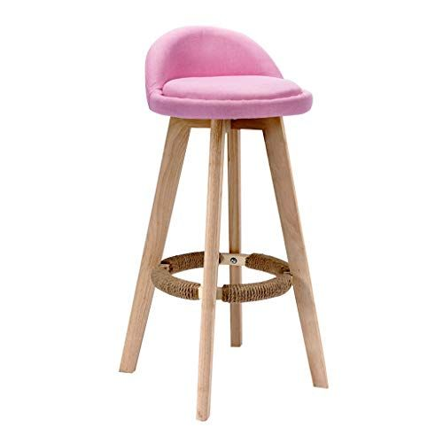 Breakfast Stool Solid Wood Bar Stools Footrest With Hemp Rope Household Kitchen Breakfast Pub High Chair Modern St Wood Bar Stools Bar Stools Modern Chairs