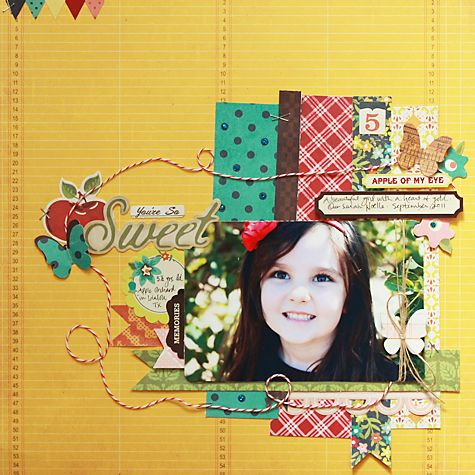 You're so Sweet scrapbook layout by One Scrappin' Mama