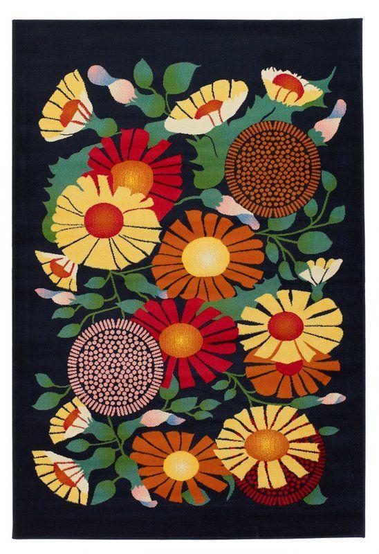 Fruita Flower Novelty Rug Floral Rug Chandra Rugs Novelty Rugs