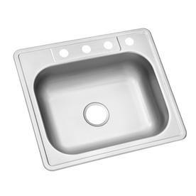 Kingsford 25 In X 22 In Satin Single Basin Stainless Steel Drop In