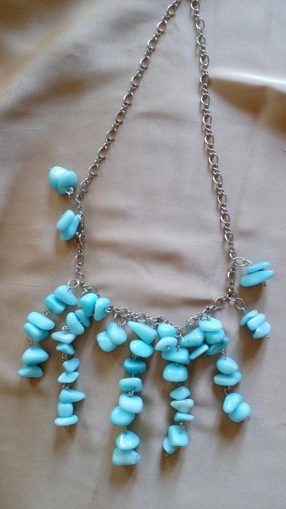 Chip beaded chain necklace.Craft ideas from LC.Pandahall.com