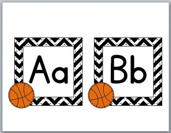 Basketball Word Wall Headers with Primary Font {Sports Theme}