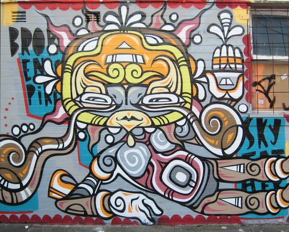 Sun Face Marrickville - Street Art by Phibs