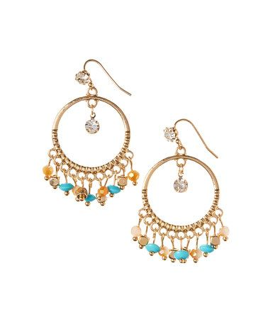 Goldtone Montego Drop Earrings #zulily #zulilyfinds