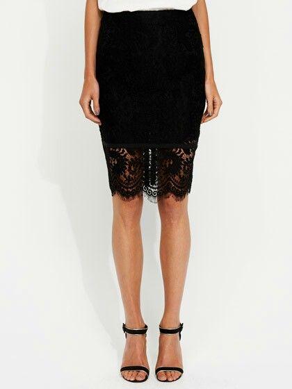 My black lace skirt
