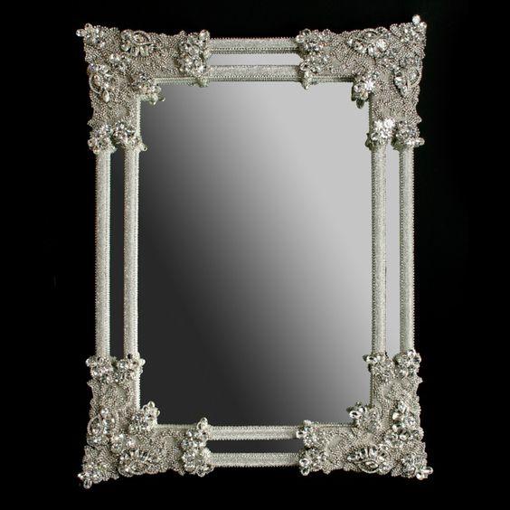 Wall Mirrors With Crystal Frames Bb Simon Swarovski