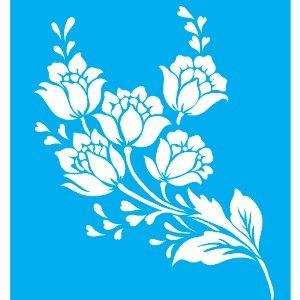Plantilla-a-pintura-25x20-Flores-LSG-022 --- Litocart