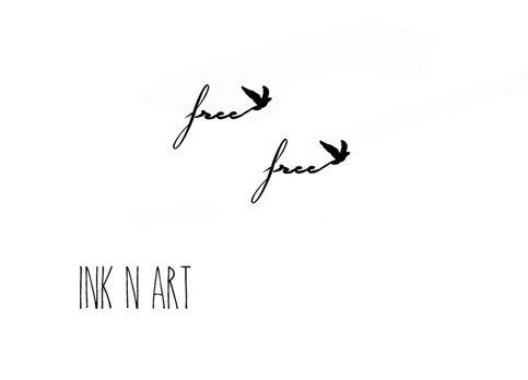 2pcs Small Free With Bird Tattoo Inknart Temporary Tattoo Wrist Quote Tattoo Body Sticker Fake Tattoo Wedding T Birds Tattoo Hip Tattoo Small Bird Tattoo