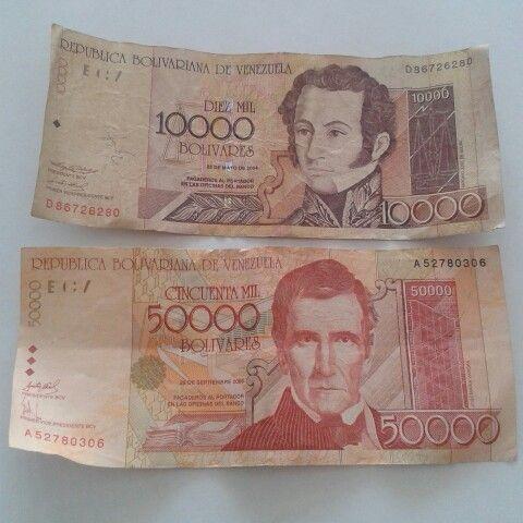 Billetes de ayer. Bolivares