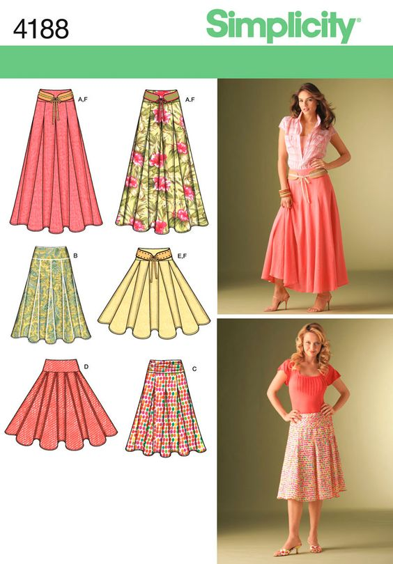 Simplicity Patterns /  Skirts & Trousers /  4188
