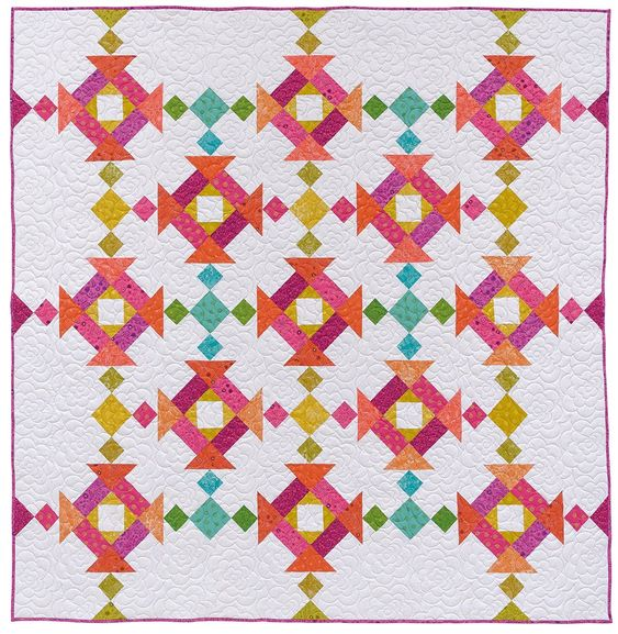Fat-Quarter Favorites by Karen Burns. Fat quarter friendly quilt patterns for the modern quilter. Take those fun little chunks of fabric in fantastic new directions, trying fresh spins on classic quilt blocks, such as Jacob's Ladder, Churn Dash, and Pinwheel. Affiliate link.