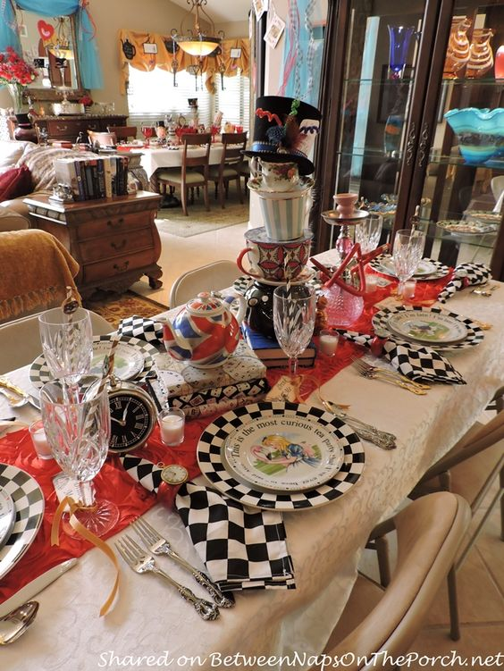 Alice in Wonderland Mad Hatter Dinner Party