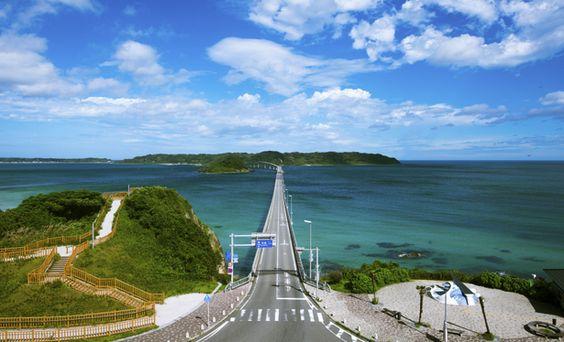 Yamaguchi: Kadoshima-ohashi, bridge 山口: 角島大橋 #japan #sightseeing