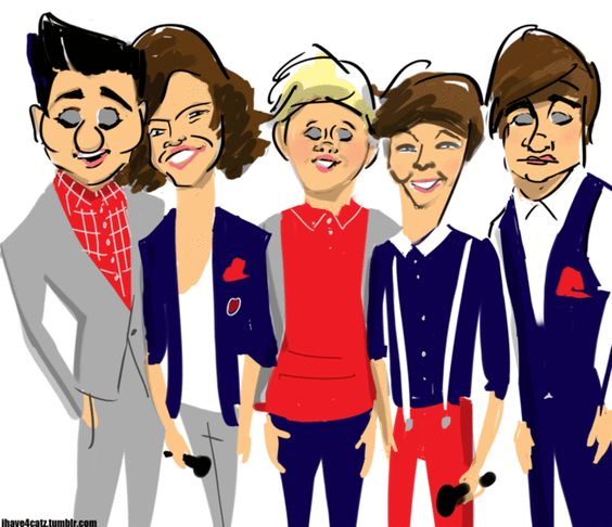 One Direction animated caricatures | Gifs animados de Famosos.