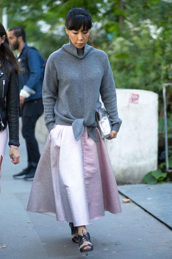 Showgoers Were All Kinds of Shiny on Day 8 of Paris Fashion Week - Fashionista