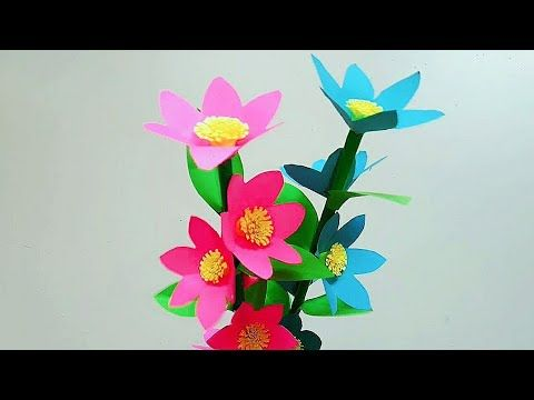 Bunga Kertas Cara Membuat Bunga Kertas Sederhana Kerajinan Kertas Youtube Bunga Kertas Kerajinan Sederhana Origami