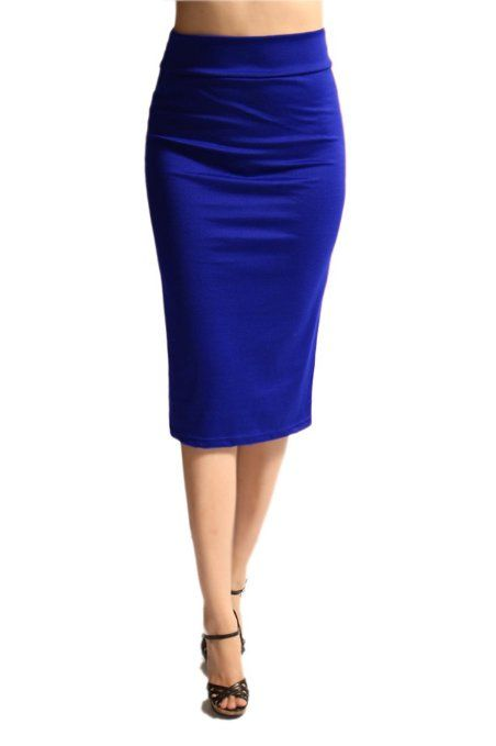 Amazon.com: Women'S Ponte Roma From Office Wear to Casual Below Knee Pencil Skirt - Solid: Clothing