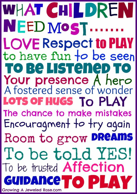 What Children Need the Most- a free printable