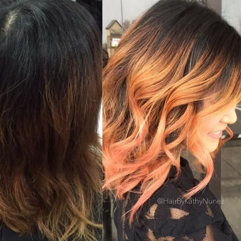 Kathy Nunez(@HairByKathyNunez), owner of Studio One Salon, Tri-Cities, WA, says this first time clent was looking for something fresh and modern. Here she shares how she gave her something pretty and tasteful (assisted by @HairByJessicaYbarra): STEP 1: Paint large panels with Wella Blondor with 30 volume developer, leaving the base natural. Lift mid shaft to an 8 and ends to a 9. Shampoo and towel dry.