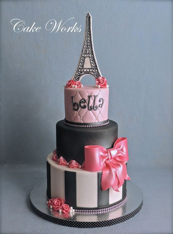 Cake Images With Name Pari : Birthdays, Paris themed cakes and Cakes on Pinterest