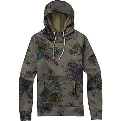 BURTON Women's Heron Pullover Hoodie, Small, Succulent Camouflage